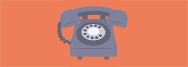 Illustration of a rotary telephone