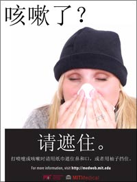 flu poster - cough - chinese