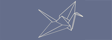 Illustration of an origami paper crane
