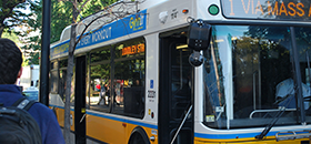 View of an MBTA bus