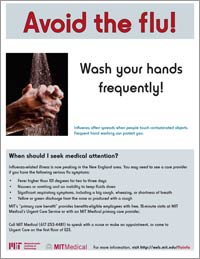 flu poster - avoid touching your eyes, nose, or mouth