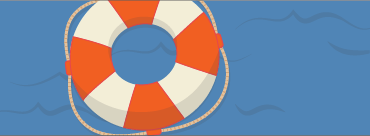Illustration of a ring-shaped life preserver