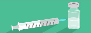 Illustration of a syringe and a vial