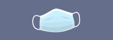 Illustration of a PPE mask