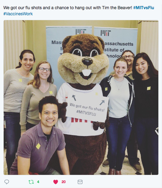 Group of students with Tim the Beaver