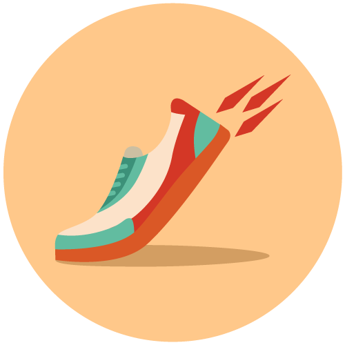 Illustration of an athletic shoe